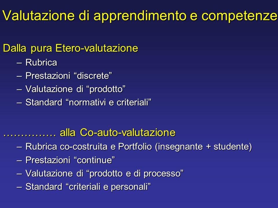 Valutazione di apprendimento e competenze