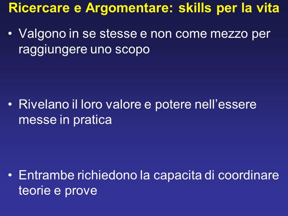 Ricercare e Argomentare: skills per la vita