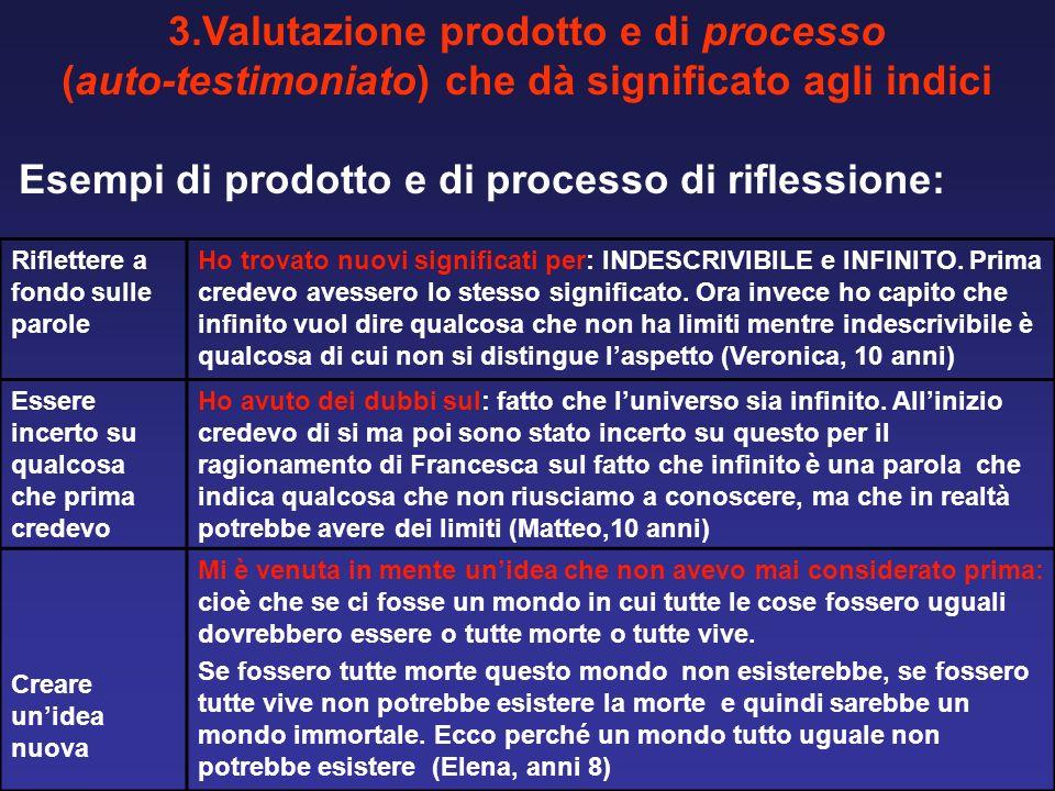 3.Valutazione prodotto e di processo
