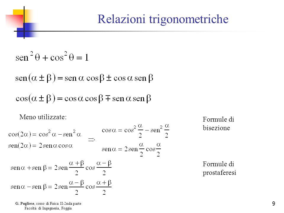 Relazioni trigonometriche