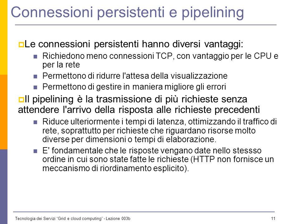 Connessioni persistenti e pipelining