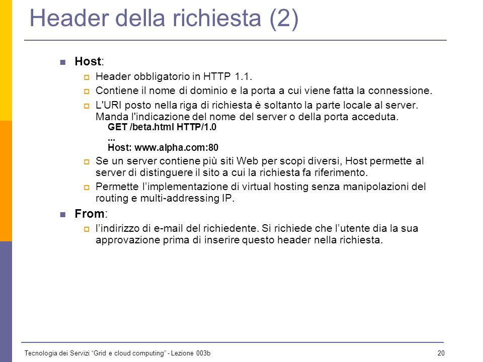 Header della richiesta (2)
