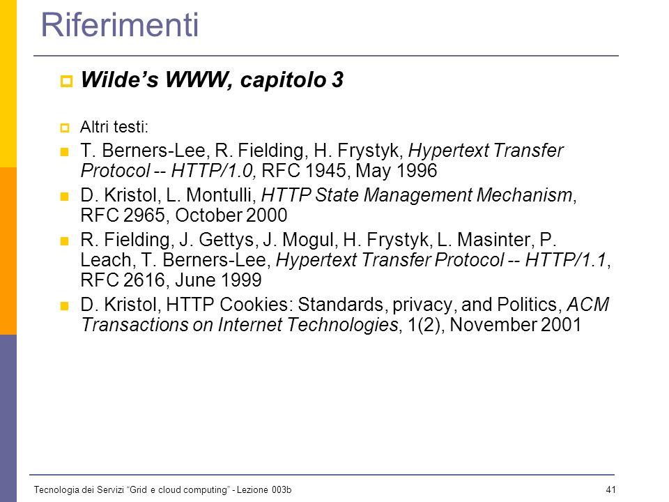 Riferimenti Wilde's WWW, capitolo 3