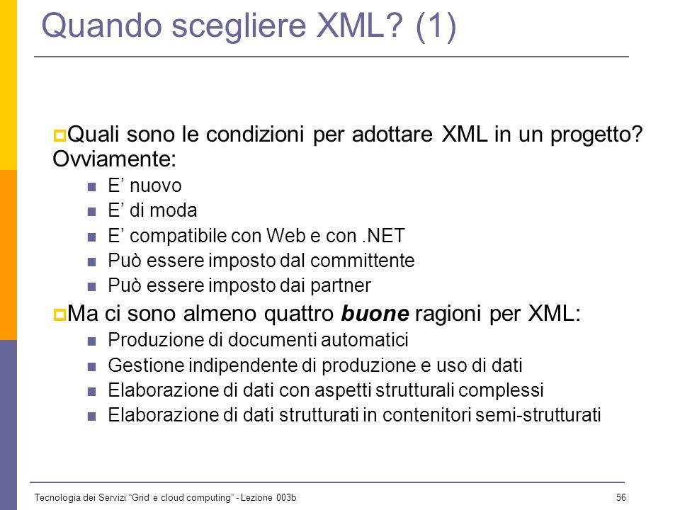 Quando scegliere XML (1)