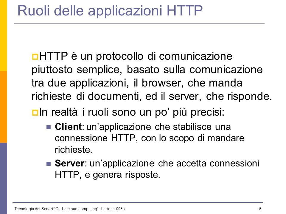 Ruoli delle applicazioni HTTP
