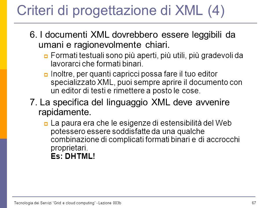 Criteri di progettazione di XML (4)