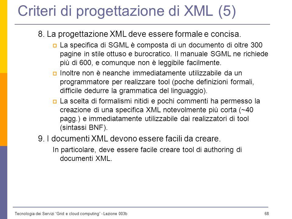 Criteri di progettazione di XML (5)