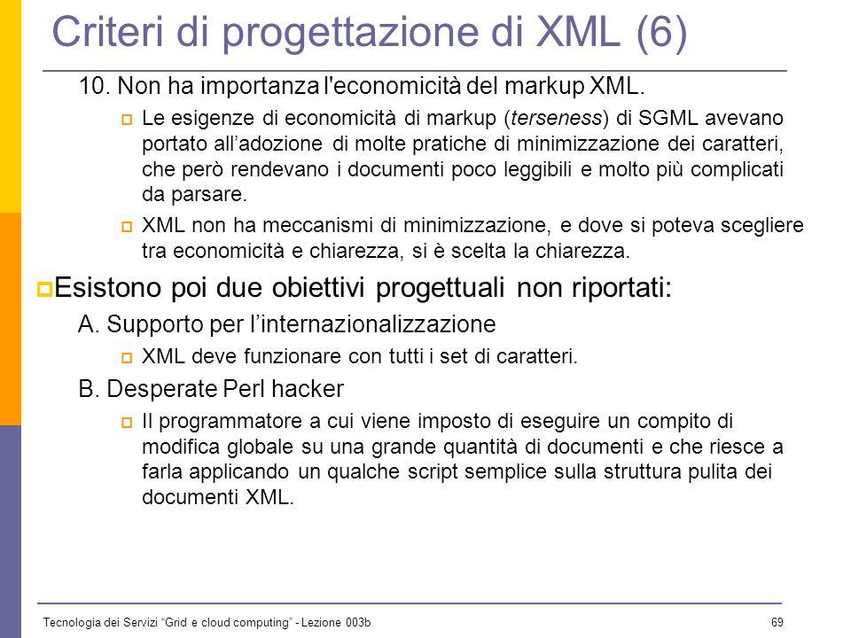 Criteri di progettazione di XML (6)