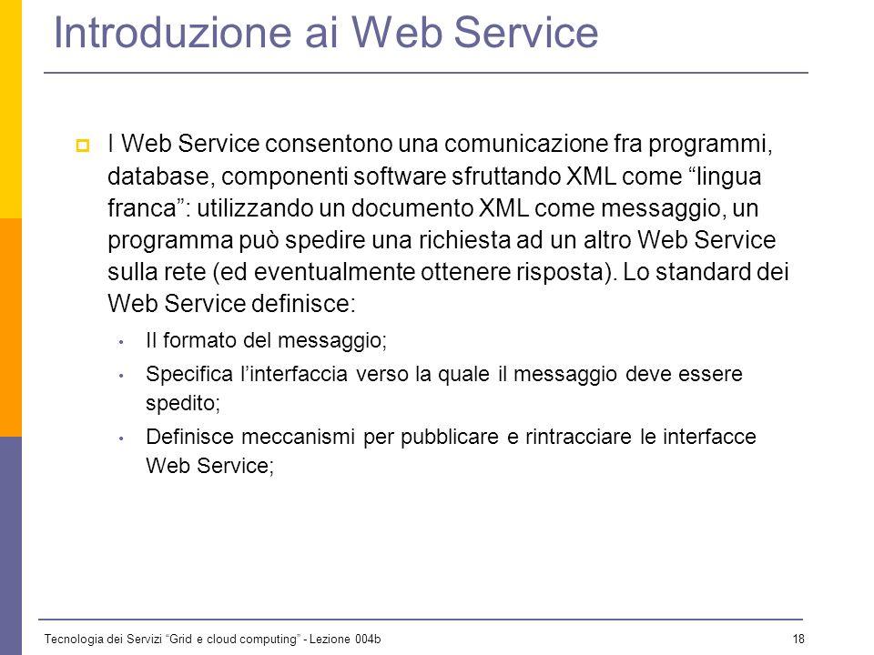 Introduzione ai Web Service