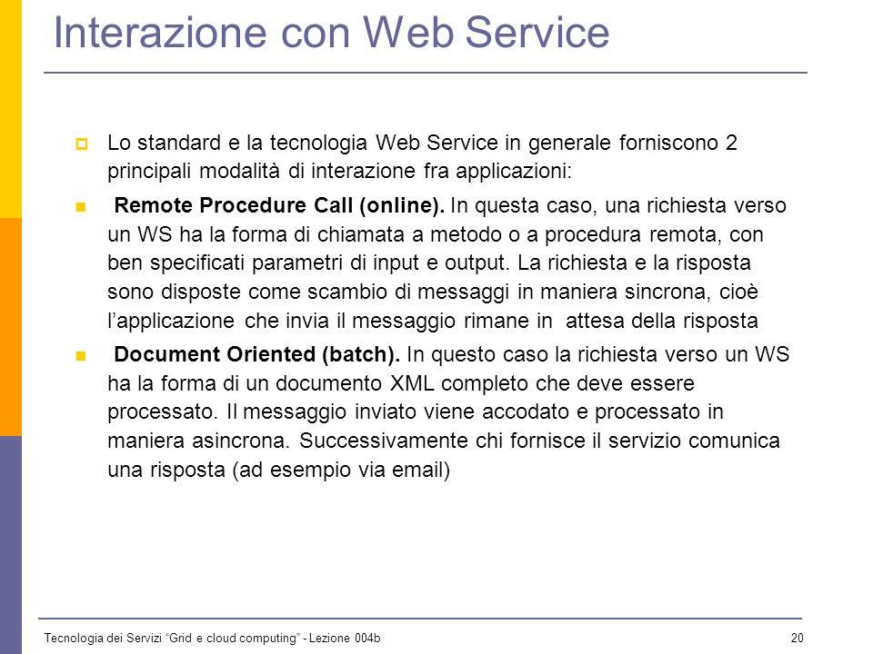 Interazione con Web Service