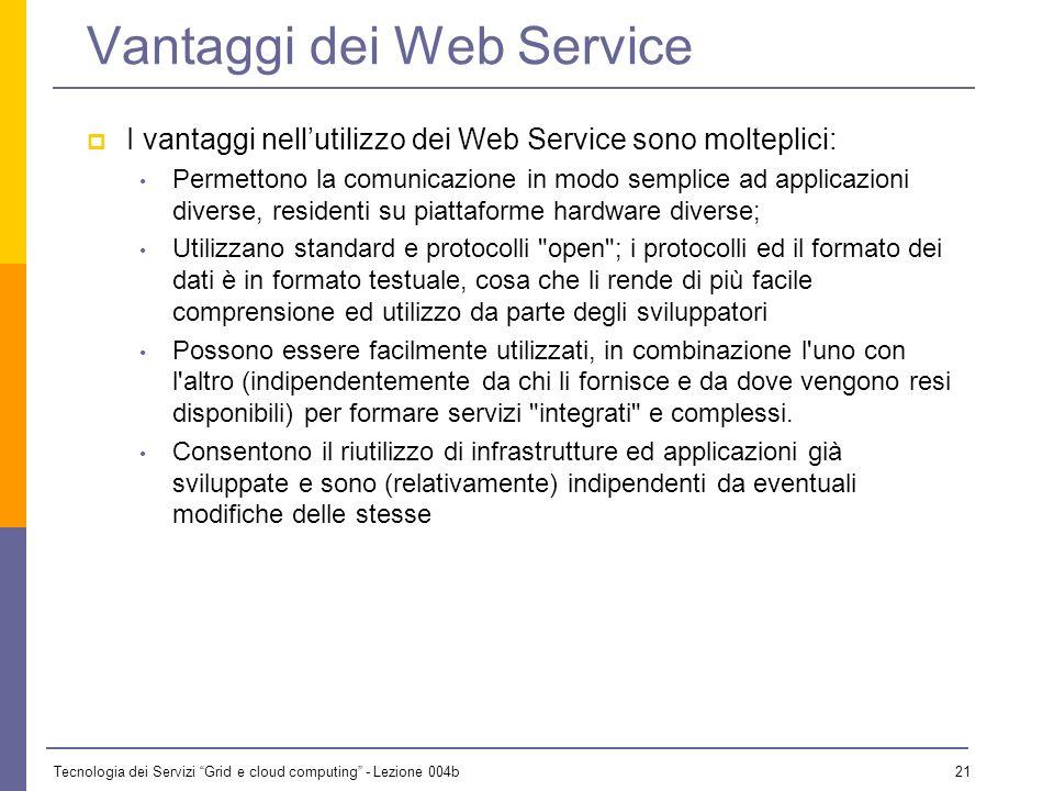 Vantaggi dei Web Service