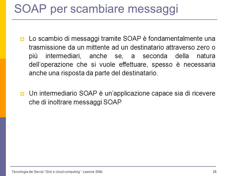 SOAP per scambiare messaggi
