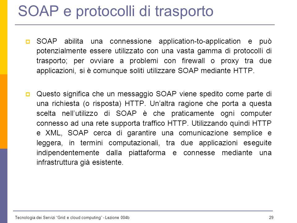 SOAP e protocolli di trasporto