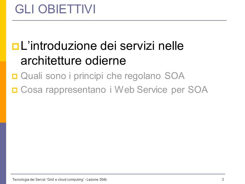 L'introduzione dei servizi nelle architetture odierne