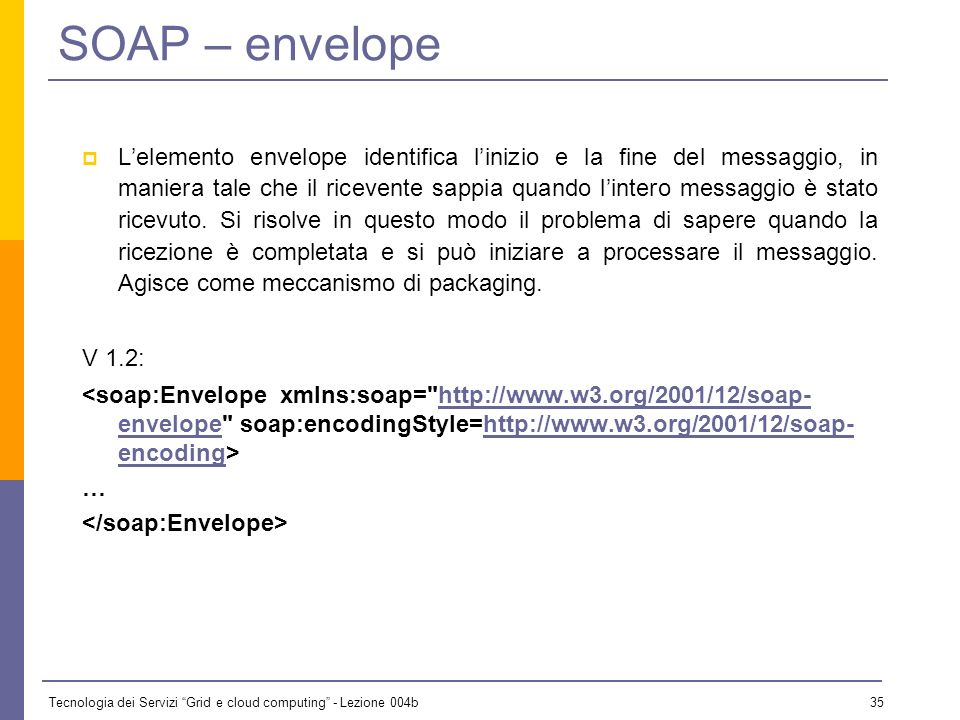 SOAP – envelope