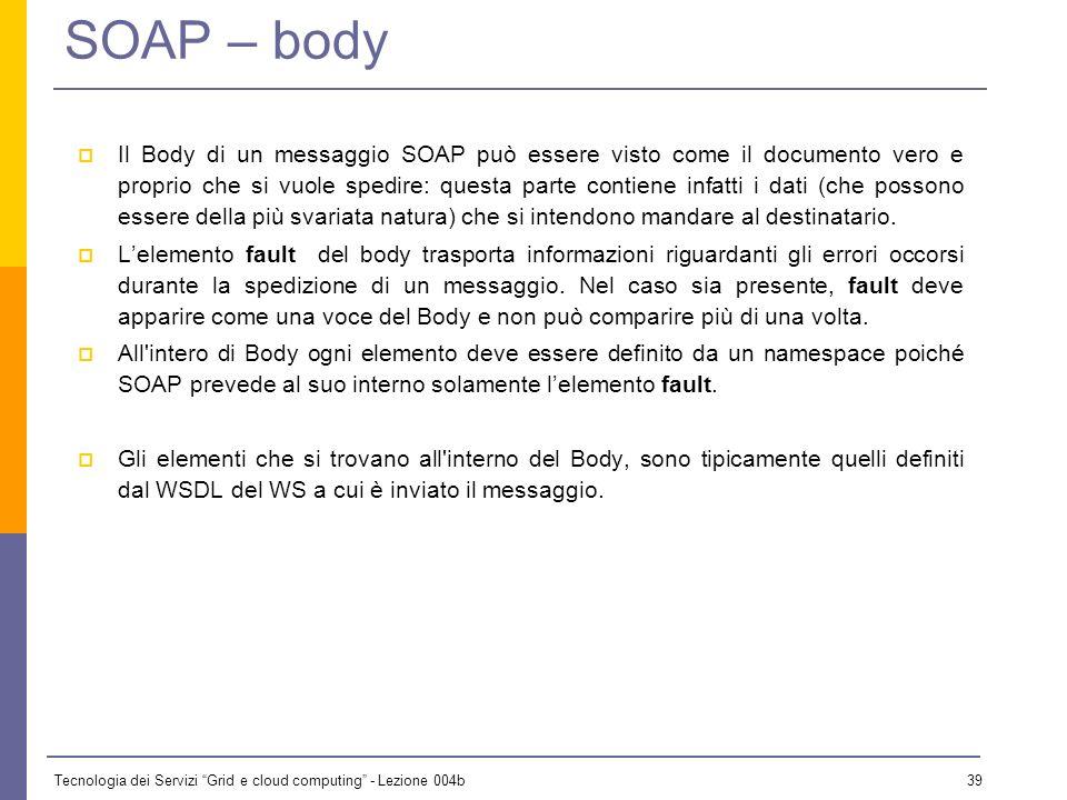 SOAP – body