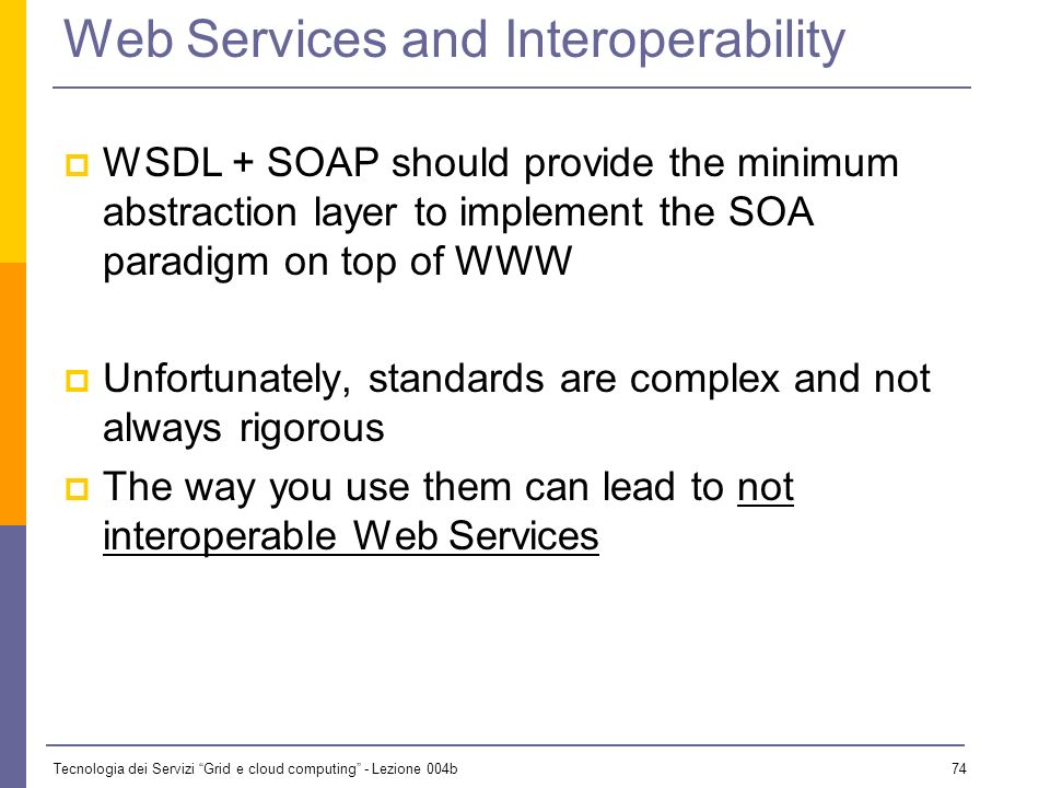 Web Services and Interoperability
