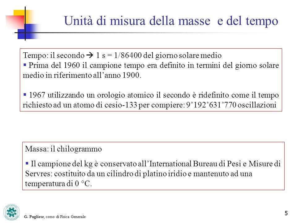 Unità di misura della masse e del tempo