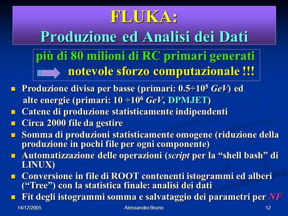 FLUKA: Produzione ed Analisi dei Dati