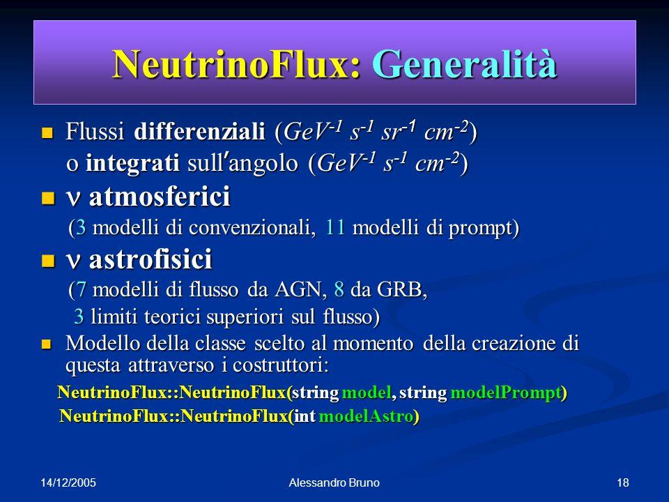 NeutrinoFlux: Generalità