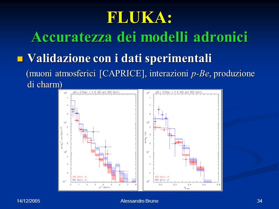 FLUKA: Accuratezza dei modelli adronici