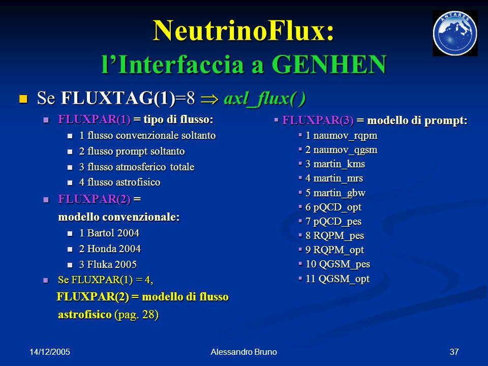 NeutrinoFlux: l'Interfaccia a GENHEN