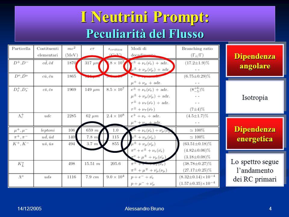 I Neutrini Prompt: Peculiarità del Flusso