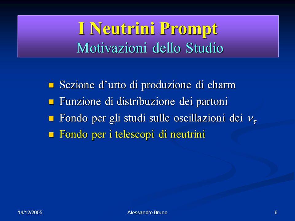 I Neutrini Prompt Motivazioni dello Studio