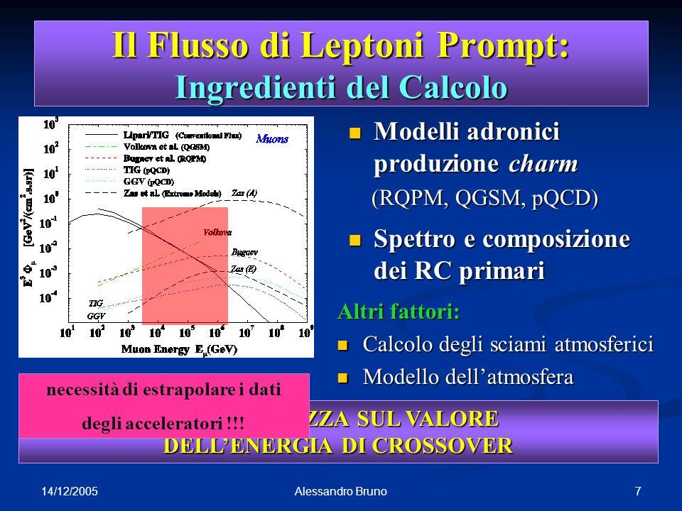 Il Flusso di Leptoni Prompt: Ingredienti del Calcolo