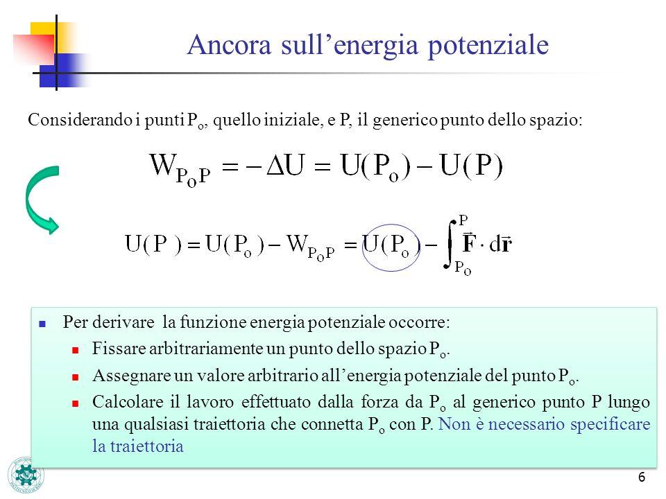 Ancora sull'energia potenziale