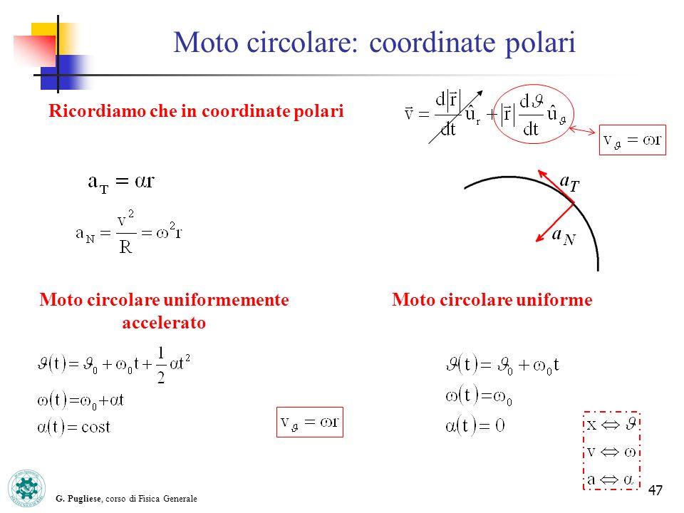 Moto circolare: coordinate polari