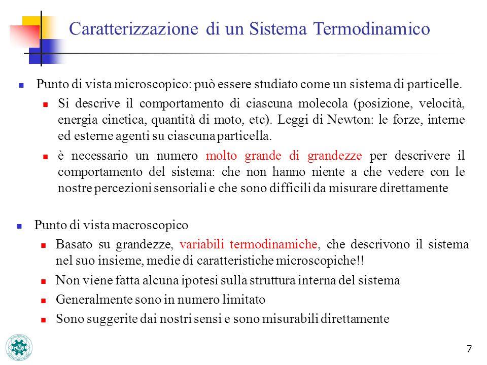 Caratterizzazione di un Sistema Termodinamico