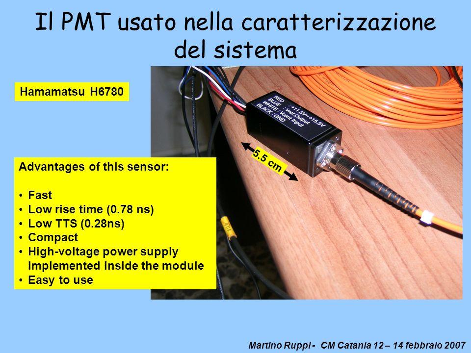 Il PMT usato nella caratterizzazione del sistema