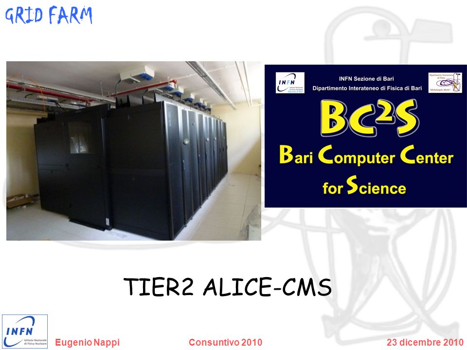 GRID FARM TIER2 ALICE-CMS