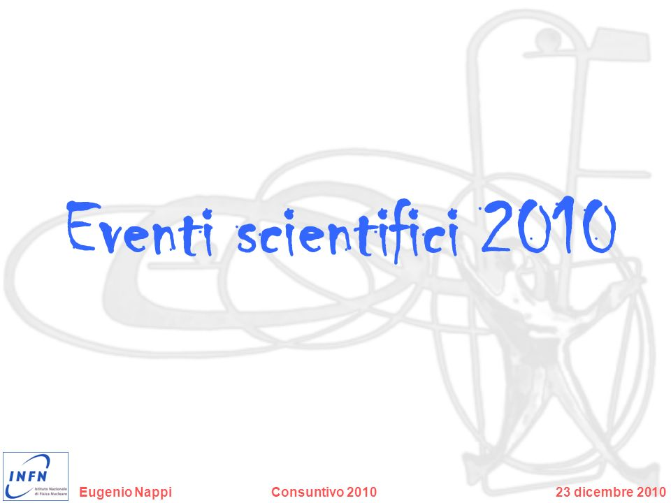 Eventi scientifici 2010
