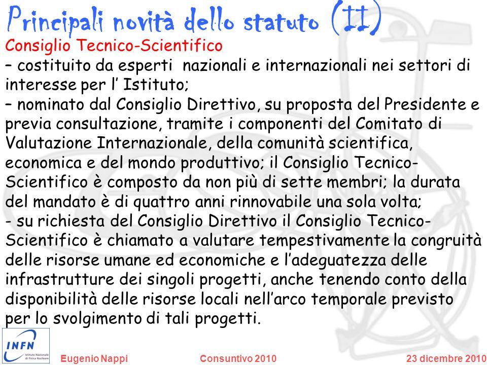 Principali novità dello statuto (II)