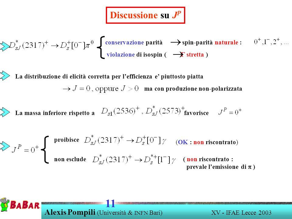 Discussione su JP conservazione parità spin-parità naturale : violazione di isospin ( G stretta )