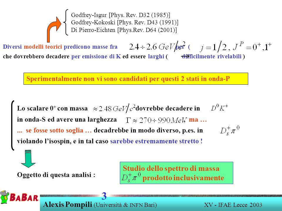 3 Studio dello spettro di massa prodotto inclusivamente