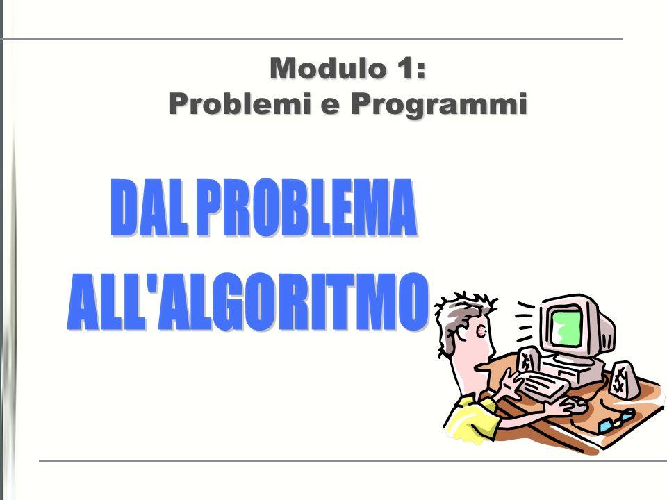 Modulo 1: Problemi e Programmi