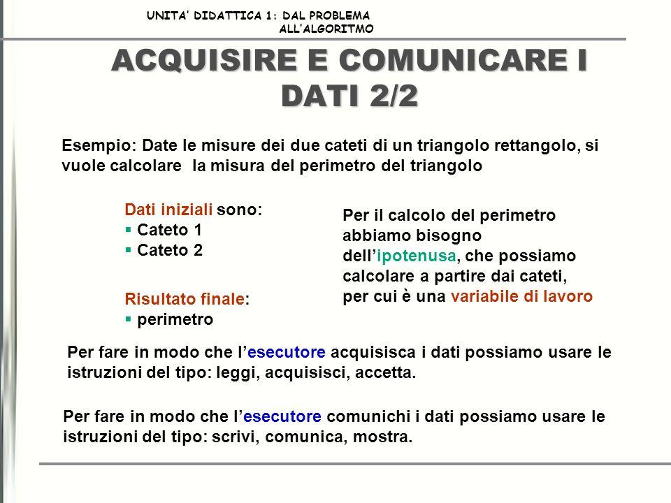 ACQUISIRE E COMUNICARE I DATI 2/2
