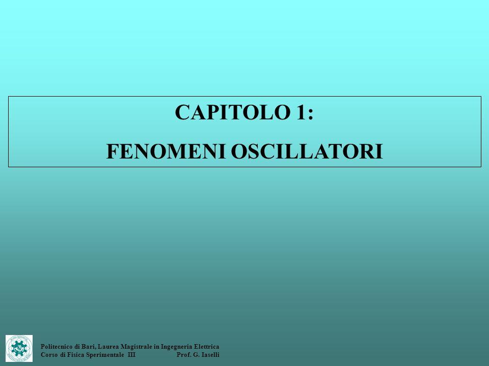 CAPITOLO 1: FENOMENI OSCILLATORI