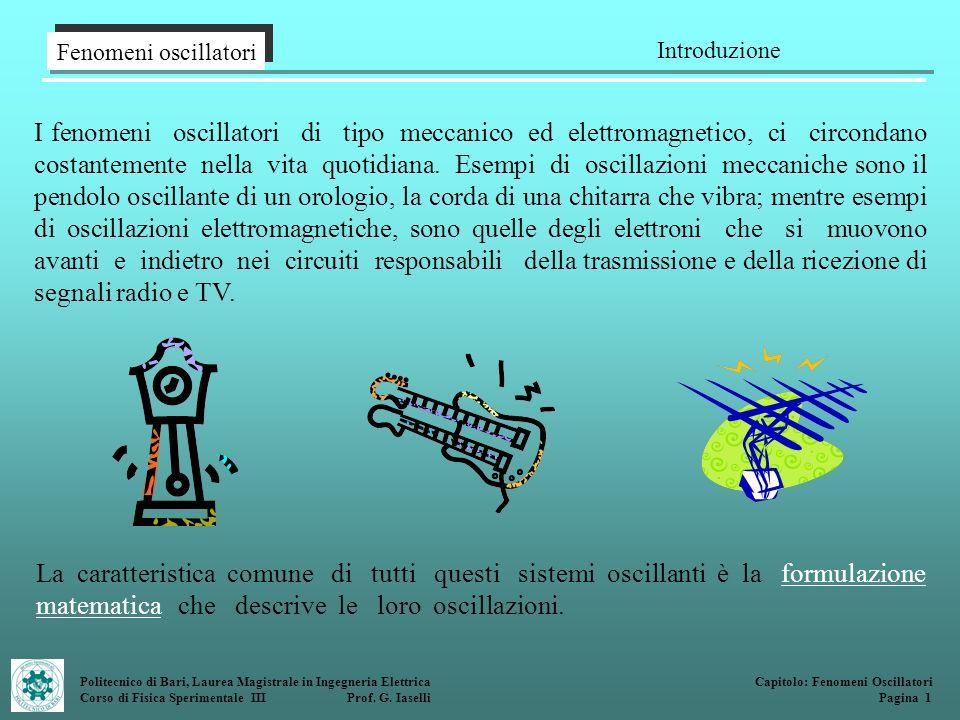 Fenomeni oscillatori Introduzione.