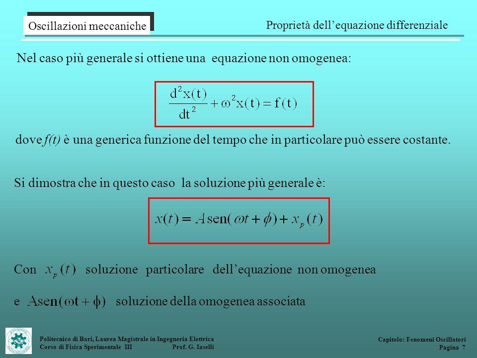 Proprietà dell'equazione differenziale
