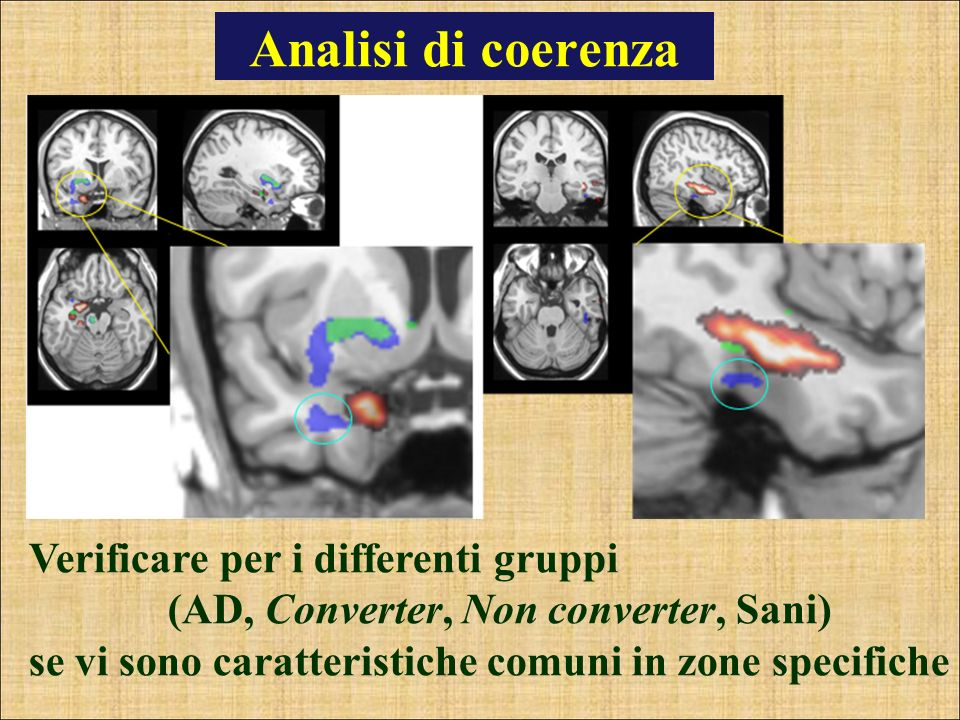 Analisi di coerenza Verificare per i differenti gruppi
