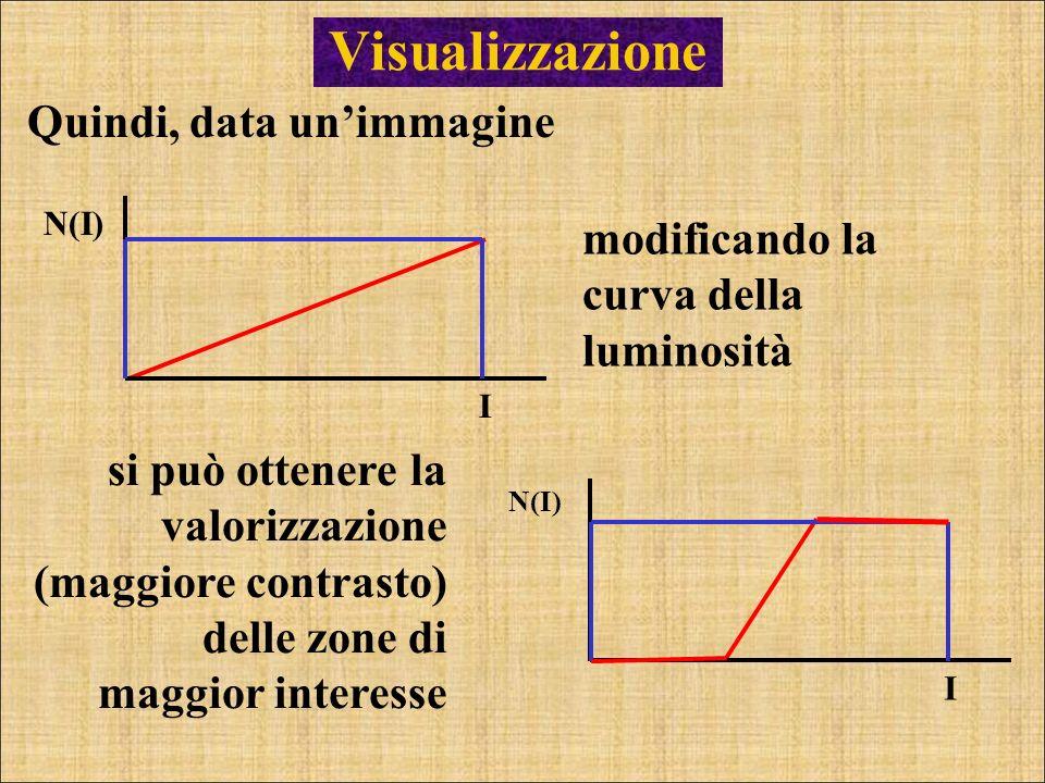 Visualizzazione Quindi, data un'immagine