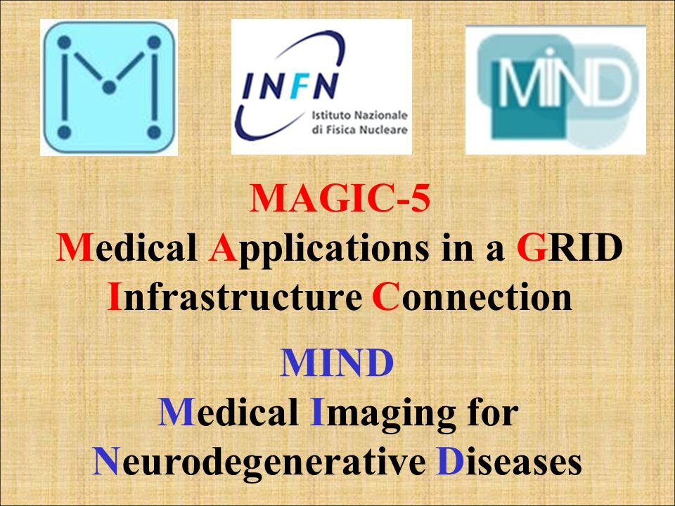 MAGIC-5 Medical Applications in a GRID Infrastructure Connection