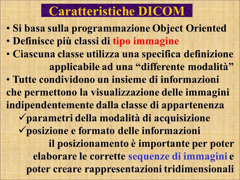 Caratteristiche DICOM