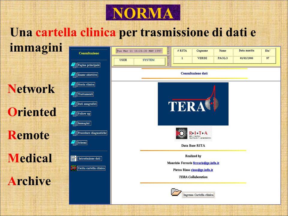 NORMA Una cartella clinica per trasmissione di dati e immagini Network