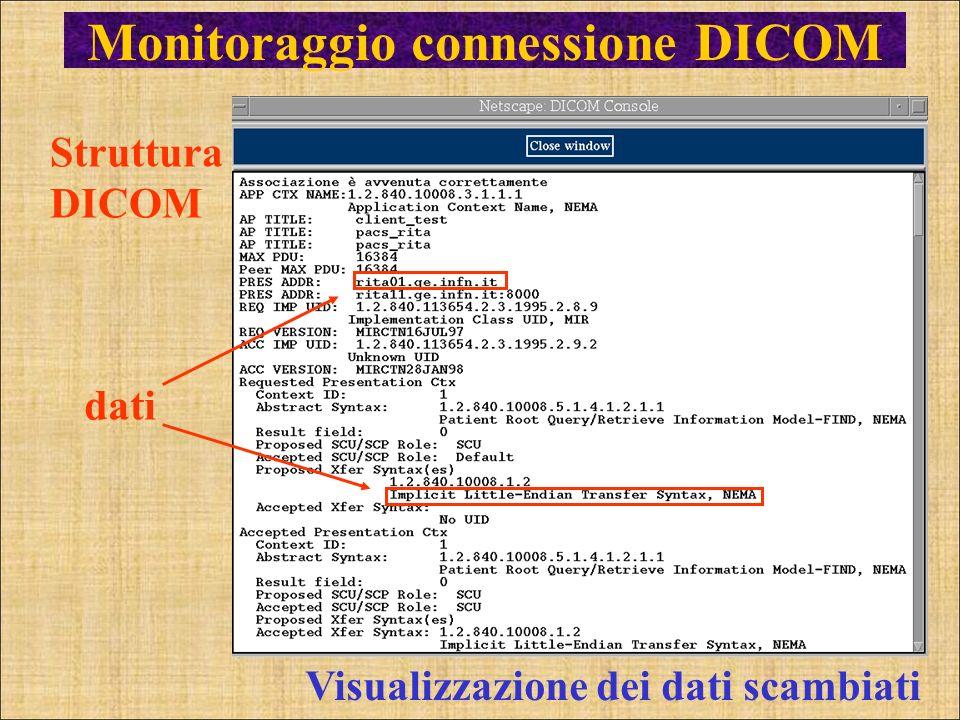 Monitoraggio connessione DICOM