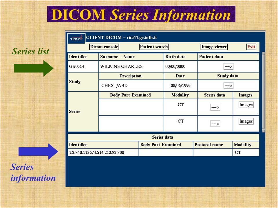 DICOM Series Information